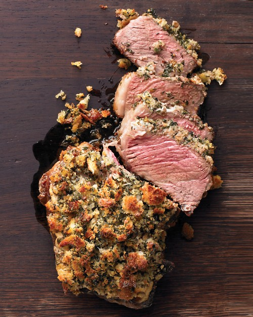 Rib Roast with Herb Crust (com crosta de ervas)
