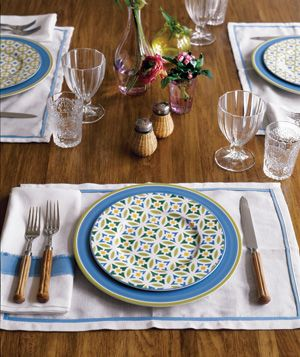 table setting - real simple