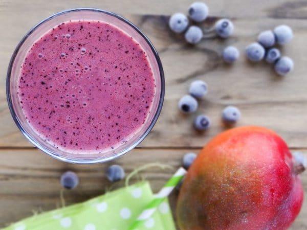 Receita de Blueberry Mango Smoothie   Inglês Gourmet