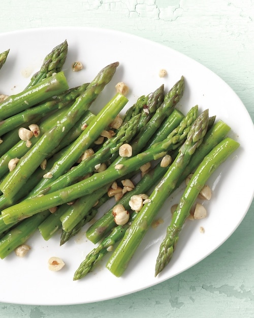 Steamed Asparagus with Brown Butter and Hazelnuts Martha