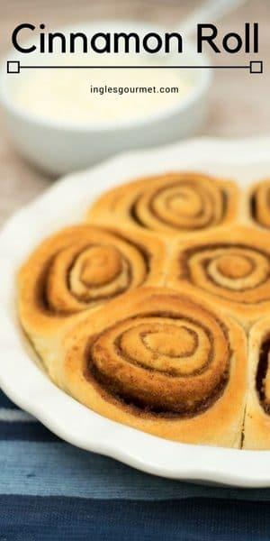 Receita de Cinnamon Roll   Inglês Gourmet