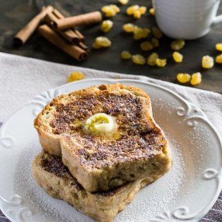 Receita de French Toast com Pão de Canela e Passas   Inglês Gourmet