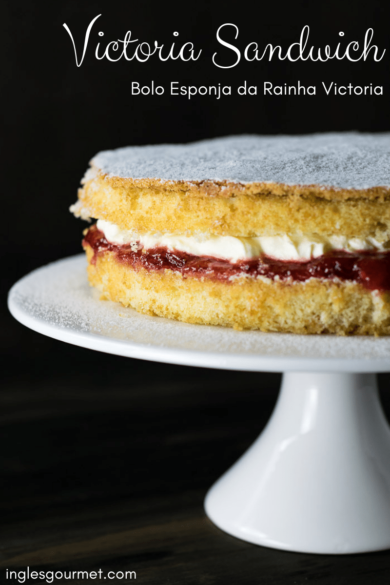 Victoria Sandwich - Bolo Esponja da Rainha Victoria   Inglês Gourmet