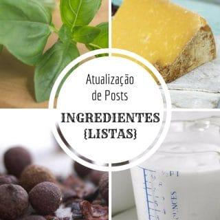 {Atualização de Posts} Ingredientes - Listas   Inglês Gourmet