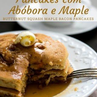 Receita de Pancakes com Abóbora e Maple {Butternut Squash Maple Bacon Pancakes}   Inglês Gourmet