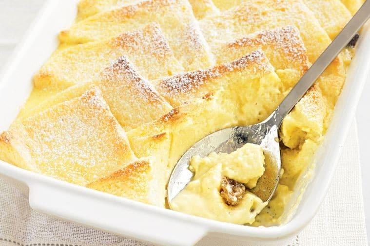 Como é O Bread And Butter Pudding Inglês Gourmet